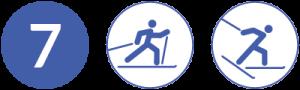 Symbolbild Loipe 7, Schwierigkeit blau, Skating und Klassisch